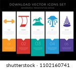 5 vector icons such as... | Shutterstock .eps vector #1102160741