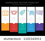 5 vector icons such as bank ... | Shutterstock .eps vector #1102163411