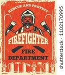 poster for firefighter... | Shutterstock . vector #1102170995