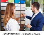 competent  glad seller in... | Shutterstock . vector #1102177631