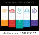 5 vector icons such as elephant ... | Shutterstock .eps vector #1102179167