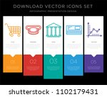 5 vector icons such as cart ... | Shutterstock .eps vector #1102179431