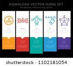 5 vector icons such as 100... | Shutterstock .eps vector #1102181054