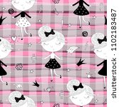 cute hand drawn with cute...   Shutterstock .eps vector #1102183487
