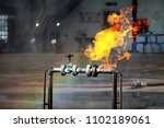 gas pipeline leaks at the... | Shutterstock . vector #1102189061