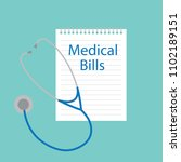 medical bills written in... | Shutterstock .eps vector #1102189151