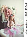 little girl in the room | Shutterstock . vector #1102195064
