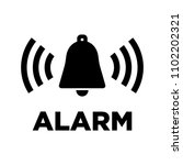bell icon with text alarm | Shutterstock .eps vector #1102202321