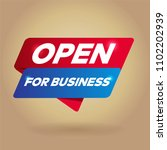 open for business arrow tag... | Shutterstock .eps vector #1102202939