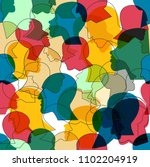 seamless pattern of a crowd of... | Shutterstock .eps vector #1102204919