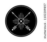 black circle. design element...   Shutterstock .eps vector #1102209857