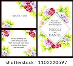 romantic invitation. wedding ... | Shutterstock . vector #1102220597
