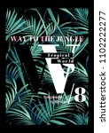 tropical t shirt print with... | Shutterstock . vector #1102222277