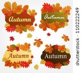 collection of autumn labels... | Shutterstock .eps vector #110222249