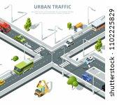 city crossroad. illustrations... | Shutterstock . vector #1102225829