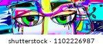 digital abstract art poster...   Shutterstock .eps vector #1102226987