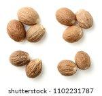 Nutmeg Spice Isolated On The...