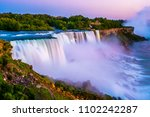 niagara falls in the summer... | Shutterstock . vector #1102242287