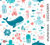 vector seamless pattern with...   Shutterstock .eps vector #1102242845