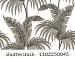 faded banana and palm trees... | Shutterstock .eps vector #1102250045