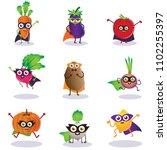 superhero vegitables ... | Shutterstock .eps vector #1102255397