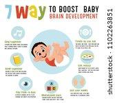 7 way to boost baby brain... | Shutterstock .eps vector #1102263851