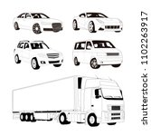 high end car  off road  sport... | Shutterstock .eps vector #1102263917