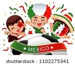 vector illustration of mexico... | Shutterstock .eps vector #1102275341