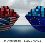 europe united states trade and... | Shutterstock . vector #1102276421