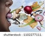 bad breath and halitosis as... | Shutterstock . vector #1102277111