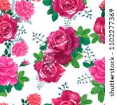 beautiful floral seamless... | Shutterstock .eps vector #1102277369