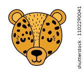 color adorable leopard head... | Shutterstock .eps vector #1102290041
