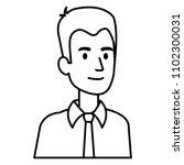 businessman avatar character... | Shutterstock .eps vector #1102300031