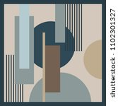 silk scarf design with stripes... | Shutterstock .eps vector #1102301327