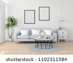blank photo frame for mockup on ... | Shutterstock . vector #1102311584