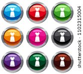 dress set icon isolated on... | Shutterstock . vector #1102315004