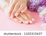 young  perfect woman's hands... | Shutterstock . vector #1102315637