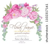 vector delicate invitation with ... | Shutterstock .eps vector #1102317161