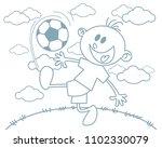 vector illustration of a boy... | Shutterstock .eps vector #1102330079