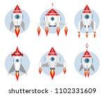 vector illustration of a set of ... | Shutterstock .eps vector #1102331609
