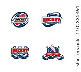 set of professional hockey...   Shutterstock .eps vector #1102335464