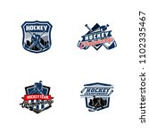set of professional hockey... | Shutterstock .eps vector #1102335467