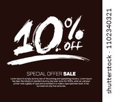 10  off special offer sale ... | Shutterstock .eps vector #1102340321