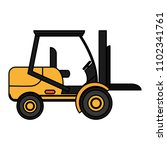 color forklift transportation... | Shutterstock .eps vector #1102341761