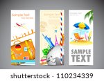 illustration of travel banner... | Shutterstock .eps vector #110234339