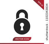 old lock icon | Shutterstock .eps vector #1102343834