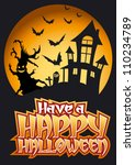 have a happy halloween graphic... | Shutterstock .eps vector #110234789