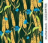 background of cornflowers and... | Shutterstock .eps vector #1102349705