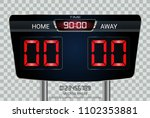 digital timing scoreboard ... | Shutterstock .eps vector #1102353881