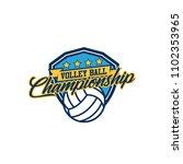 volleyball badge design logo... | Shutterstock .eps vector #1102353965